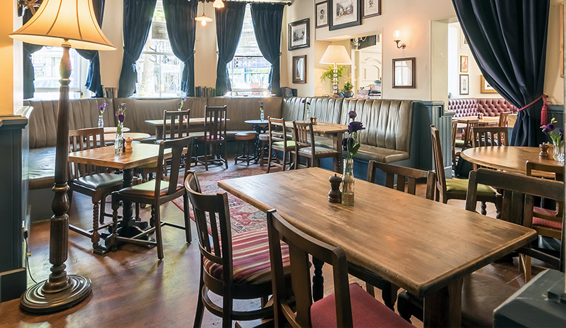 the bald faced stag, pub & dining room
